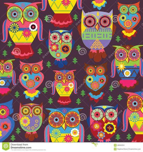 stylish owls   violet background stock images image