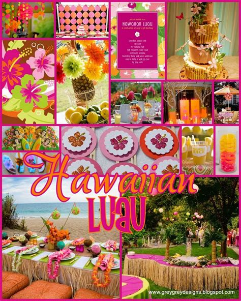 hawaiian themed party uk 16 best luau images on pinterest luau party birthdays