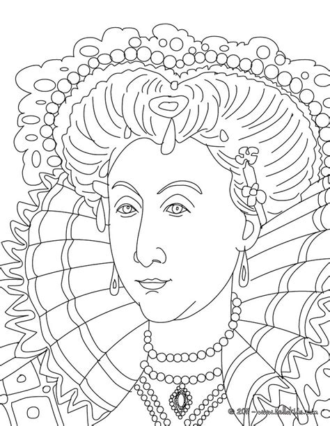 coloring pages elizabeth elizabeth i coloring pages hellokids