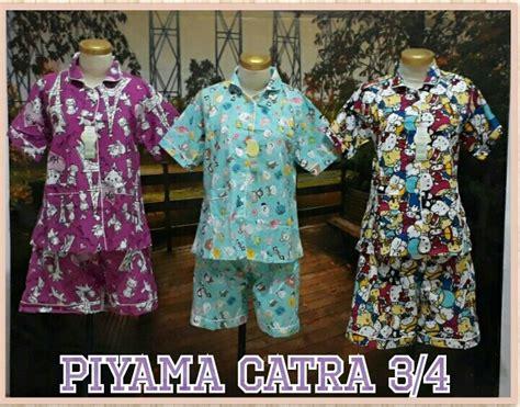 Piyama Katun Dewasa supplier piyama katun catra dewasa 3 4 murah surabaya 55 ribu peluang usaha grosir baju anak