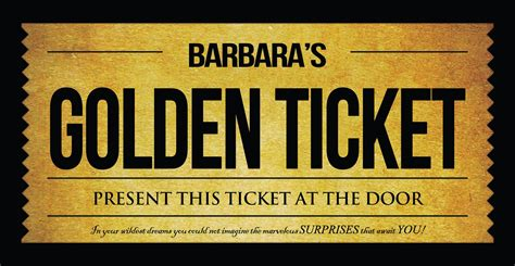 Willy Wonka Golden Ticket Invitation Golden Ticket Template Word