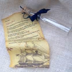 pirate birthday invitation message in a bottle by artfulbeginnings