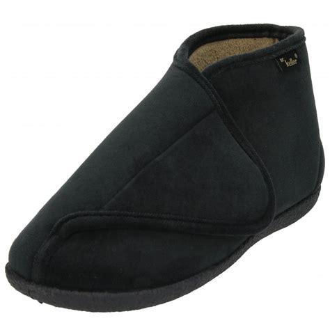 memory foam slipper boots dr keller memory foam insole velcro fleece cosy slippers
