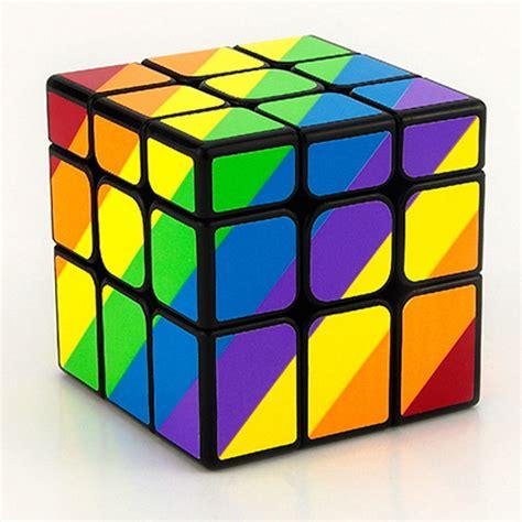 Rubik Unik Yj Inequilateral Unequal Cube Yong Jun Black Berkualitas yj inequilateral 3x3 magic cube yongjun rainbow yj unequal 57mm 3x3x3 speed cube in magic cubes