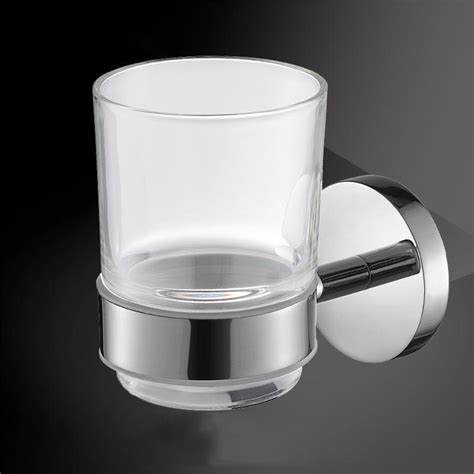 toothbrush tumblerglass cup holderwall mounted bath