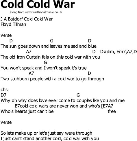 song ware cold war song