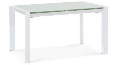 Glass And White Dining Table Alton Extending Modern Dining Table With White Glass Top Zuri Furniture