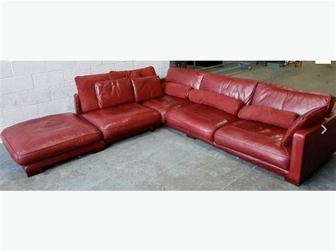 used red leather sofa rrp 163 3500 huge dfs california wine red leather corner sofa