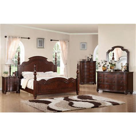 solid cherry bedroom furniture sets solid wood devonshire brown cherry finish 6 piece bedroom