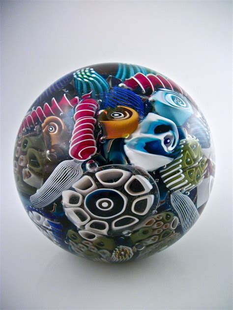 Glass Paper Weight - reef paperweight by michael egan glass