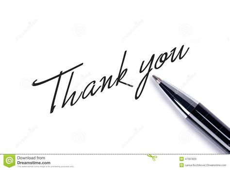 Thank You Letter Background Thank You Stock Photo Image 47307829