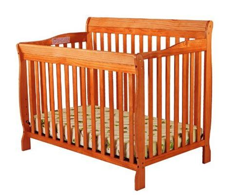 4 Way Convertible Crib by On Me Ashton Convertible 4 In 1 Crib Pecan On