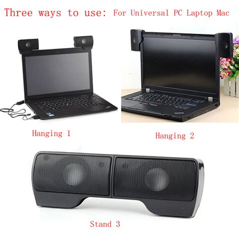 Speaker External Laptop portable external hanging usb speaker stereo player for notebook laptop uk ebay