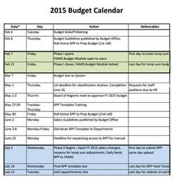Monthly Budget Calendar Template by Sle Budget Calendar 4 For Pdf