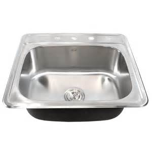 25 Inch Kitchen Sink 25 Inch Top Mount Drop In Stainless Steel Kitchen Island Bar Sink 18