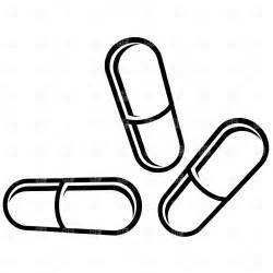 Pin Pills And Bottle 2 Black White Line Art Coloring Book Colouring On  sketch template