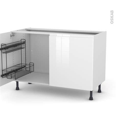 meuble de cuisine blanc brillant meuble de cuisine sous 233 vier ipoma blanc brillant 2 portes