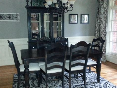 painted dining room set hometalk oak dining room set makeover