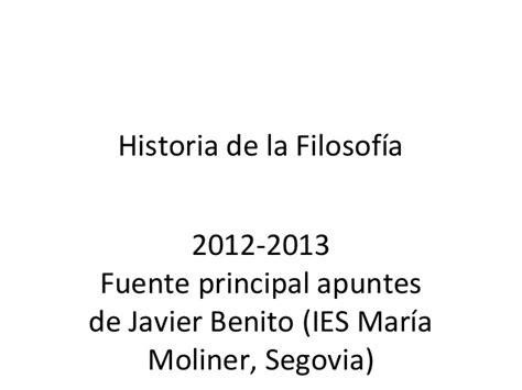 historia de la filosofia historia de la filosof 237 a ppt