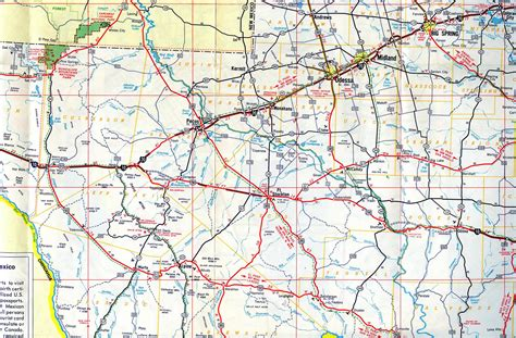 west texas maps interstate guide interstate 10