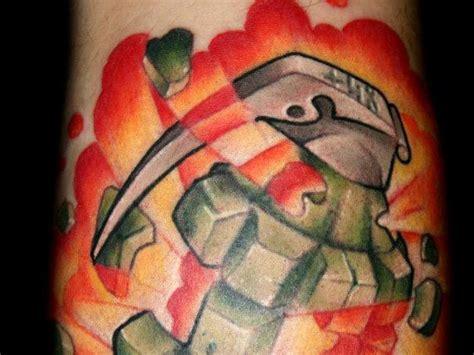new school grenade tattoo 24 volatile grenade tattoo designs