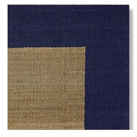 rug swatch bordered rug swatch navy williams sonoma