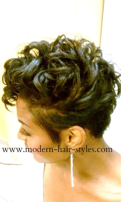 pixie cut roller curls black short hairstyles pixies quick weaves texturizers
