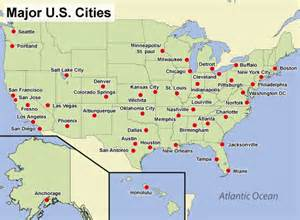 map with major cities in us quia class page gormanhistory7