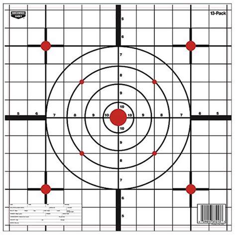 printable shooting targets battleship birchwood casey 37213 eze scorer 12 quot paper targets 13 pack