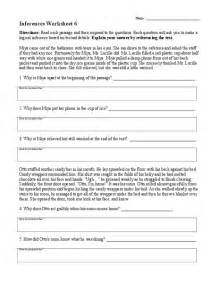 inferences worksheet 6 lesson planet community forums