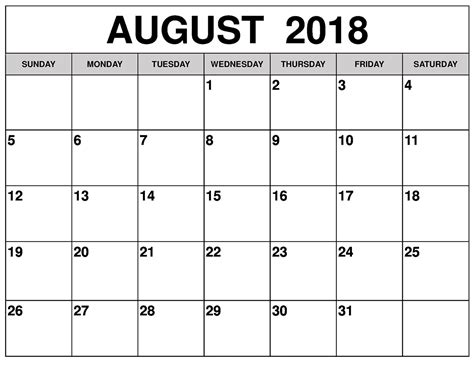 monthly calendar printable 2018 resumess franklinfire co