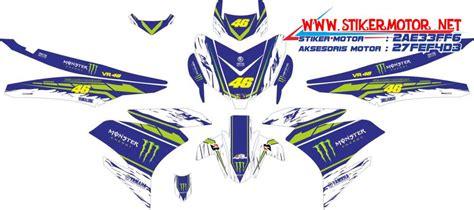 Stiker Supra X Std 2011 Biru striping motor yamaha mx king vr46 energy biru