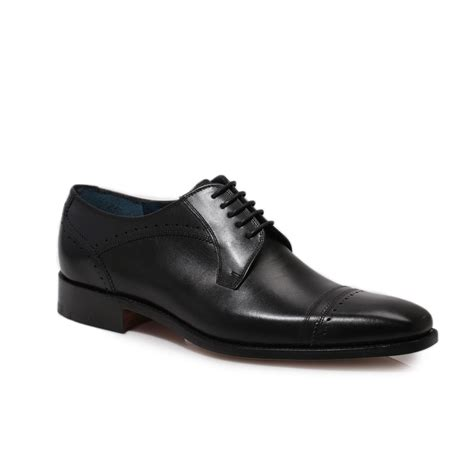 formal mens shoes barker oxford black leather smart lace up mens