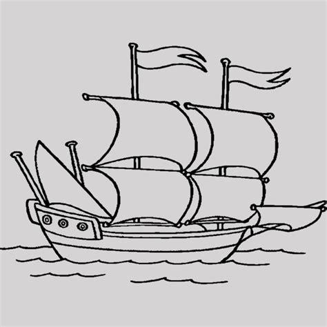 barco para dibujar barco para colorear nico dibujos de barcos en el mar
