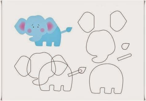 moldes carros en fieltro molde para hacer un elefante de fieltro