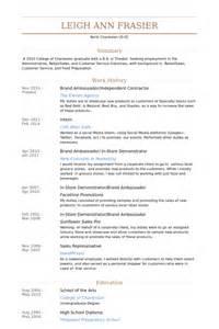 brand ambassador cover letter brand ambassador resume sles visualcv resume sles