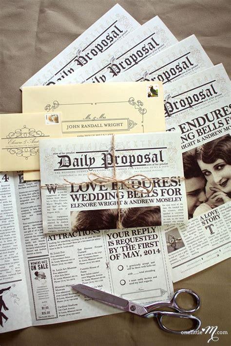 21 unique wedding invitation designs you to see wedding ideas wedding newspaper