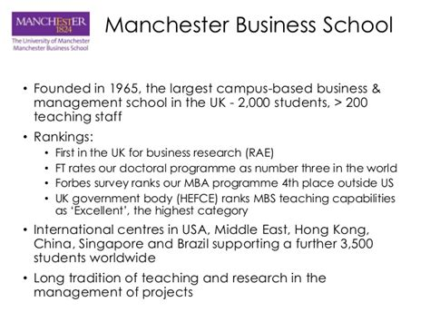 Manchester Mba Singapore by Dr Carl Gavin Manchester Business School