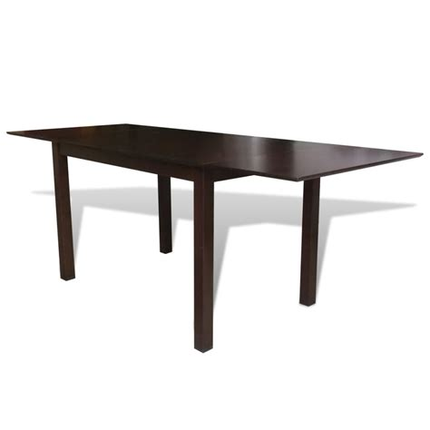 Extending Wood Dining Table Solid Wood Brown Extending Dining Table 195 Cm Vidaxl Co Uk
