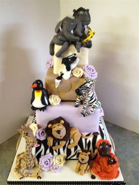 wedding cake zoo zoo animal wedding cake cake