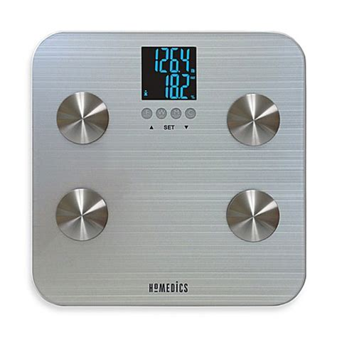 bed bath beyond bathroom scale homedics 174 531 healthstation 174 body fat bathroom scale bed