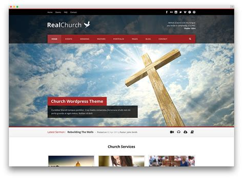 15 beautiful clean church wordpress themes 2017 colorlib