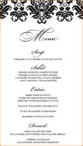 3 course menu template food menu template www pixshark images