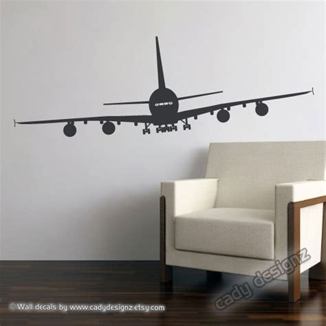 aeroplane wall stickers airplane wall decal aviation wall decor airplane nursery