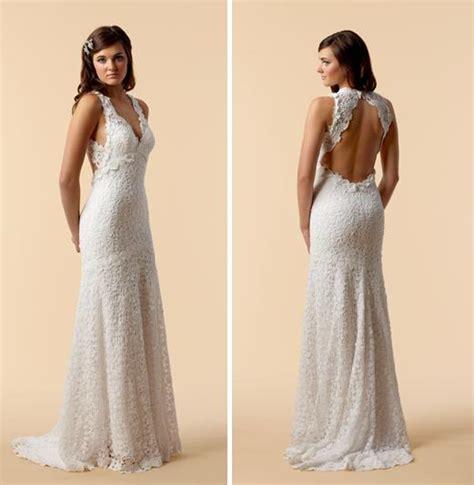 wedding dresses open back lace vintage lace wedding dress open back ipunya