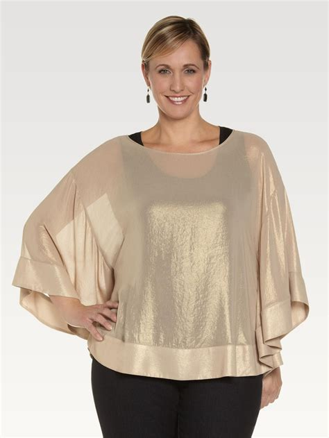 preloved second blouse batwining gold foil batwing blouse