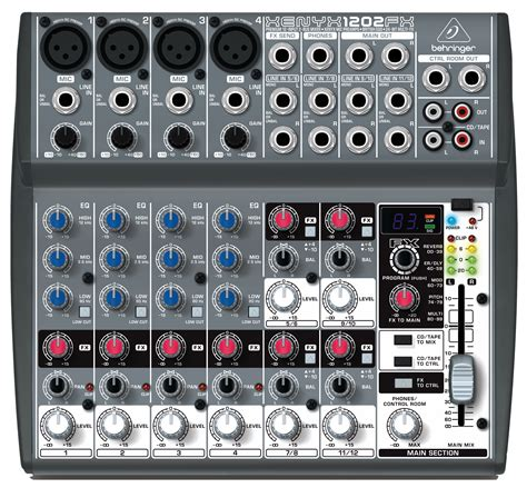 Mixer Behringer Xenyx 1202 behringer 1202fx 12 input 2 mixer with xenyx mic pres and multifx processor 1202fx