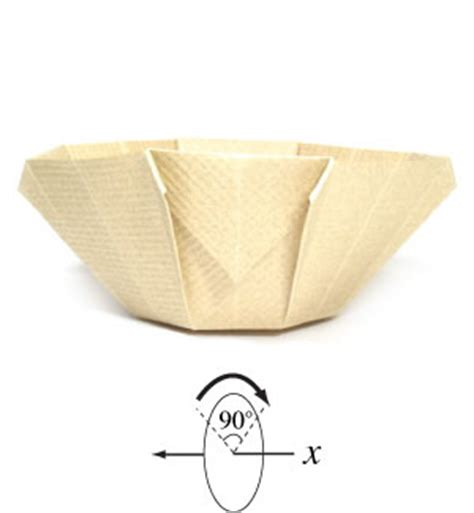 Origami Bowl Easy - how to make a 3d origami bowl page 7