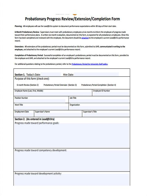 Resume Format Malaysia Pdf by New Employee Probation Period Form