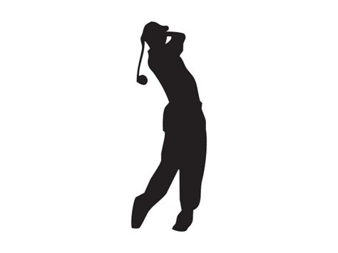 golf swing vector domawe net golf swing silhouette vector